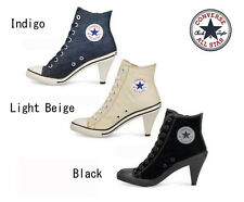 Sneakers CONVERSE ALL STAR HIGH HEEL Stiletto Zipper Light beige Indigo Black
