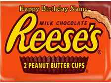 EDIBLE CAKE IMAGE REESES PEANUT BUTTER CUPS ICING SHEET PARTY TOPPER SIDE STRIPS