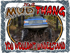 1987-1991 FORD TRUCK 4X4 F-150 MUD THANG BOGGING PRINTED T-SHIRT SMALL-4XL NEW