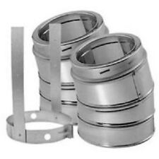"""15 Degree Elbow Kit Galvalume Outer Shell DuraTech Chimney Available 6"""" 7"""" or 8"""""""