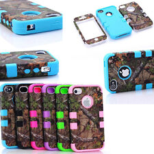 Triple Layer Hybrid Real Tree Camo Rugged Rubber Hard Case Cover for iPhon 4 5 C