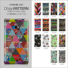 CASEiLIKE Design Pattern Snap on case+Protector+Stylus, Nokia Lumia 720