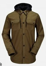 Volcom Snowboard HOODED FLANNEL Jacket BONDED Cotton AUTHENTIC Mens NEW 2015