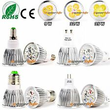 9W 12W 15W MR16 GU10 E27 E14 Cree LED Spot Light Warm Cool White Bulb Lamp LC