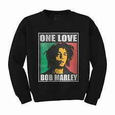 ONE LOVE BOB MARLEY REGGAE MUSIC COOL  DOPE UNISEX CREW NECK SWEATSHIRT