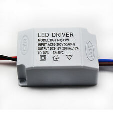 Hot AC 85V-265V to DC 2V-12V LED Electronic Transformer Power Supply Driver 3X1W