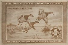 Beautifully Lasered 1935-36 Duck Stamp Reproduction on white washed alder 10X8