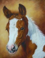 SORREL AND WHITE PINTO FOAL HORSE BABY BEAUTIFUL COUNTED CROSS STITCH PATTERN