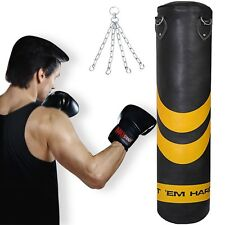Punch Bags 4ft 5ft Heavy Duty Punching Boxing Kick Punchbags Karate MMA