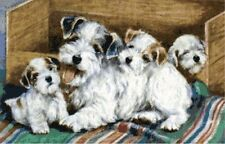Terrier Mother & Puppies ~ Dogs ~ Counted Cross Stitch Chart