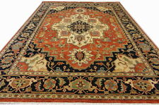 INDIAN HAND KNOTTED HERIZ SERAPI PERSIAN ORIENTAL AREA RUG WOOLEN CARPET RC EHS