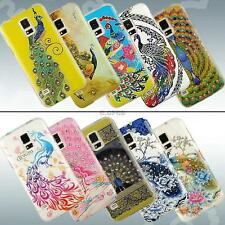 Rhinestone Peacock Painted Soft Case Silicone TPU Cover For Samsung Galaxy S3 S5
