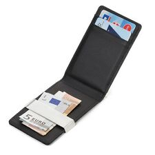 Mens Mini Wallet Credit Card Case Genuine Leather Money Clip ID Card Holder