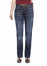 Fashion Womens Sexy Hipsters Jeans Blue Denim Ripped Trousers Destroyed Pants