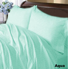 Canadian Bedding Items)- AQUA BLUE 1000TC 100%EGYPTIAN COTTON (SOLID & STRIPE)