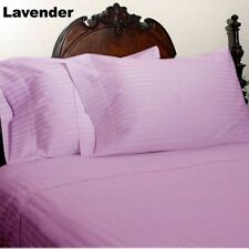 Canadian Bedding Items)- HOTEL LAVENDER SOLID&STRIPE 1000TC 100%EGYPTIAN COTTON