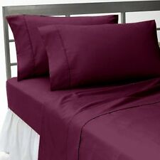 Canadian Bedding Items)- WINE SOLID & STRIPE 1000TC 100%EGYPTIAN COTTON
