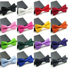 Classic Fashion Solid Satin Mens Adjustable Tuxedo Wedding Party Bow Tie Necktie