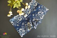 (Size 6-8-10) Sexy Lacy Dark Blue Butterfly Floral Hipster-Boyleg Knickers