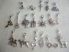 Handmade Harry Potter Inspired Clip-On Charms Stag Spider Dragon Hogwarts Sword