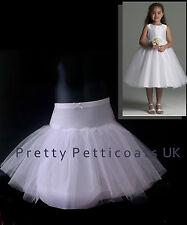 CHILDREN'S GIRLS  PETTICOAT KIDS  NET UNDERSKIRT TUTU 4-13 YEARS  FULL