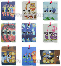 "Rotating Cute Cartoon Owl Animal Magnetic Leather Stand Case Cover For 7"" Tablet"