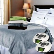 Electric Heating Blanket Energy Saver Dual Control Silky Smooth Soft Luxurious