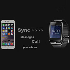 SV8 Bluetooth Wrist Smart Watch For Android Samsung iPhone Sync Calls Phone Book