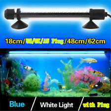 48/62cm LED Submersible Lampe Lumière à Air Bulle Aquarium Poisson Tank Tube NEW