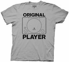 Adult Silver Video Game Console Classic PlayStation Original Player T-Shirt Tee