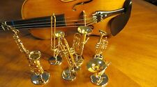 Miniature Music Instrument Decoration - Gold Trumpet, French Horn, Trombone etc