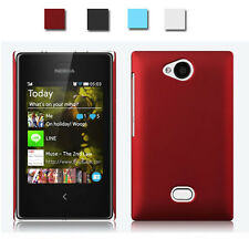 new Matte Rubberized Slim snap-on Hard Back Case Cover for nokia asha 502 503