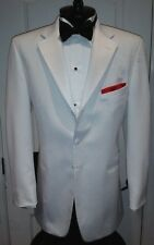 Mens Pure White Satin Notch Lapels Tuxedo Dinner Cruise Classic Jacket Cheap