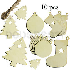 10PCS WOODEN BAUBLES HOME PARTY DECORATION VALENTINE'S DAY GIFT CRAFT TAGS UK