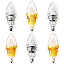 E12 Base 6W 10W Dimmable Sharp High Power LED Chandelier Candle Light Bulb