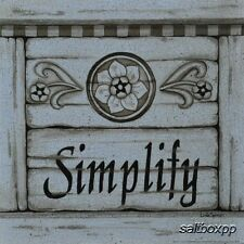"LS801 Simplify Linda Spivey 10""x10"" framed or unframed print art whitewash"