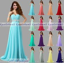 New Long Formal Evening Party Cocktail Ball Gown Prom Bridesmaid Dress Size 6-18
