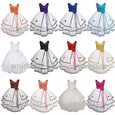S138 Flower Girl Dress Communion Pageant Wedding Easter Graduation Bridesmaid