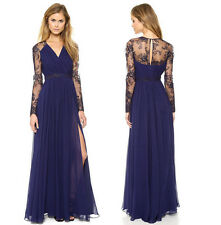 Sexy Lace Floral Lace chiffon Boho Long Maxi Casual Party Cocktail Evening Dress