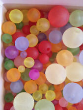 4mm, 6mm, 8mm, 10mm & 12mm Round, Frosted, Acrylic Beads in Jelly Colours (BD22)