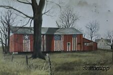 "BJ157 Americana Barn Billy Jacobs 12""x16"" framed or unframed print art"