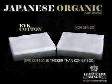 EVK Japanese Organic Unbleached Cotton Wick  SUPER ABORBENT  Best for Vaping!!