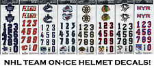 SportStar Official On-Ice NHL Hockey Helmet Decals! 3M Decal Sticker, ALL TEAMS