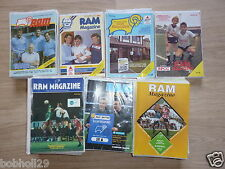 Derby County Home programmes 1983/84 to 1989/90