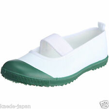 Japanese School Uniform Uwabaki Shoes costume Slippers GREEN Color from JAPAN