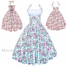Maggie Tang 50s Pinup Retro VTG Floral Housewife Rockabilly Swing Dress K-509