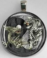 Handmade Interchangeable Magnetic Tiger Dragon Yin Yang #29 Pendant Necklace