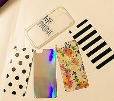 Iphone Apple 6/6 plus MY PHONE clear soft TPU 4 designs Case Protector Cover