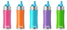 NEW Pura Kiki Stainless Steel Toddler Baby Inflant Sippy Bottle Vent Spout 11oz