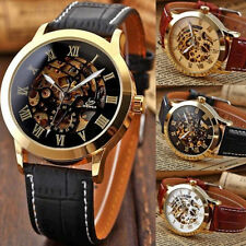 Mens Luxury Stainless Steel Automatic Mechanical Skeleton Sport Wrist Watch Hot